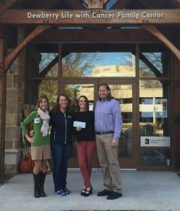 Melissa Czarnecki Amy Richards Sage Bolte Matthew Pollack Joey C Cup check presentation 15150 raised in 2015