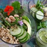 salad with grains and vegetables
